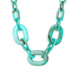 All In-VINCIBLE - Blue Acrylic Necklace Set